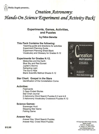 Creation Astronomy Activity Pack - Download